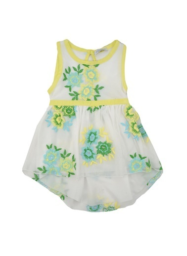 Mininio Sarı Çiçekli Tüllü Elbise (6ay-4yaş) Sarı Çiçekli Tüllü Elbise (6ay-4yaş) Sarı